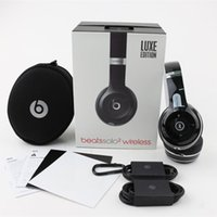 Wholesale AAA Quality Used Beats Luxe Edtion Black Beats Solo Wireless Headphones with Sealed Retail Box as New to Sell Fast Shipping afra