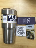 Wholesale 30oz Yeti Cup Vehicle Stainless Steel YETI Rambler Tumbler Cup Beer Mug Double Wall kitchen grade UPS Shipping