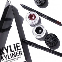 Wholesale kyliner Kit Eyeliner Set Eyeliner Pencil Eye Shadow Brush three piece Set Kylielyed Cosmetics Kit DHL
