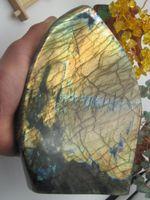 africa articles - 2866g Natural labradorite quartz crystal furnishing articles and healing B