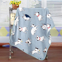 Wholesale Baby Receiving Blanket Newborn Swaddle Dog Pattern Infant Bedding Supplies Toddler Soft Flannel Swaddling Wrap Parisarc VT0364