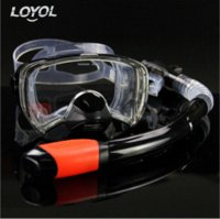 Wholesale Professional Snorkeling Suit Snorke Dry Breathing Tube Scuba Toughened Glass equipamento de mergulho Diving Mask Multi Color