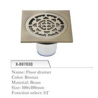 Wholesale Brass Floor Drainer mm Shower Floor Drain Grate Bronze X D8703Q