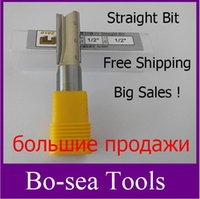 Wholesale Router Bits Straight Bit Shank Blade Tungsten Carbide Flutes Professional Router bit inch free shpping B