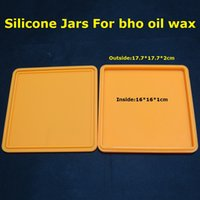 Wholesale MOQ Colorful large wax container silicone jars ML non stick custom rubber silicone container for dabs oil wax vaporizer