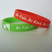 Wholesale Silk Screen Printing Silicone Bracelets Custom Jelly Promotional Bracelet Cheap quot quot With Factory Price