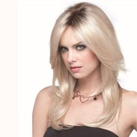 american girl hairstyle - American European fashion girl women hot saleelegant popular mix gold middle wavy hair wig cheap price high quality rose net Mixed color
