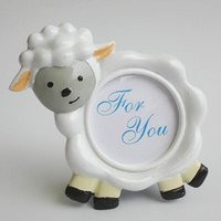 baby shower favors picture frames - 16pcs NEW ARRIVAL Lovely Sheep Design Picture Frame Photo Holder Baby Shower Favors Birthday Party Gift