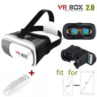 Wholesale 2016 best Fashion Newest D VR BOX VR CASE ND GENERATION VIRTUAL REALITY GLASSES BLUETOOTH REMOTE