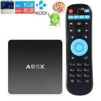 Wholesale Amlogic S905 TV Box A95X Android Box G G Quad core G Wifi KODI Smart Media Player