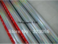 Wholesale Holographic Square Pattern Hot Stamping Foil Paper Bussines X131yds x120m roll
