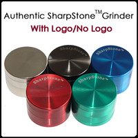 Wholesale 100 Original Sharpstone Grinders Metal Alloy Herb Grinders Tobacco Crusher Grinders Layers Cigar Spice Crusher Cigarettes Magnet Strainer