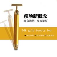 Wholesale New Gold Facial Roller Massage BEAUTY BAR K GOLDEN PULSE SKIN CARE Lift Vibrating Facial Massager