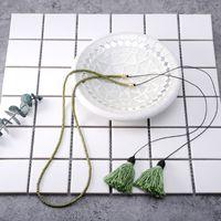 art beads korea - Korea Bohemia national art Wood Bead Necklace tassel chain fashion jewelry
