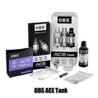 ace ceramic - 100 Original OBS ACE RBA Tank ml Side filling Juice Flow Control Atomizer with Ceramic Coil