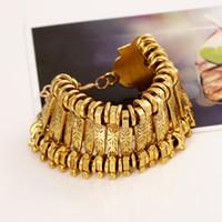 Wholesale 2016 New Fashion Retro Tassel Bracelet Coin Suit Bracelet Alloy Wide Bracelet Both Men And Women