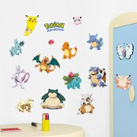 amination movies - Cartoon Design Wall Stickers for Kids Rooms Home Decorations Pikachu Wall Decal Amination Poster Wall Art Wallpaper Kids