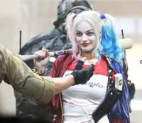 Wholesale Suicide Squad Harley Quinn Harleen Quinzel Cosplay Wig Wig Batman Clown Curly Heat Resistant Synthetic Hair Ombre Wig