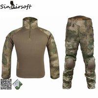 Wholesale Emerson BDU Gen2 Bdu Military Uniform Combat Shirt amp Pants amp Pads Atacs Fg Airsoft Uniform army Ghillie Suit ATFG EM6922
