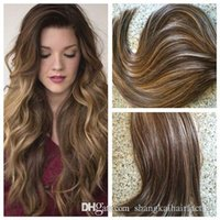 Wholesale HLHair Gram Highlight Mix Color And Color Dark Brown Balayage Extensions of Tape in Hair Extensions