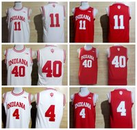 Wholesale 2016 College Isiah Thomas Jerseys Indiana Hoosiers Victor Oladipo Cody Zeller Shirt Uniform Rev New Material Team Color Red White
