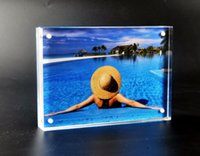 Wholesale R inch magnetic frame PMMA paper display holder x mm