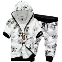 sweat suits men - Summer style hoodies men moleton masculino luxury brand tracksuit Men sweat sport suit hooded hip hop jogging suits for men