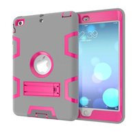 apple accessories protect - 3 in Shockproof kids Protector Case PC Silicone Hybrid Robot Protect Screen Protector cover case for ipad mini