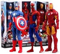 Wholesale Marvel Heros Captain America Avenger Superhero PVC Action Figure Toy quot CM Captain America Spider Man Iron Man
