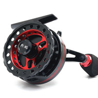 Wholesale Full Metal Carved Raft Reels With a vent force BB Fishing rod Micro Lead wheel Raft rod wheel Fishing Tackle
