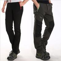 Wholesale Men women outdoor brand keep warm softshell trousers waterproof windproof breathe ski pantalones mountain Hiking trekking pants