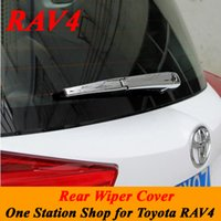 Wholesale For Toyota RAV4 Special Rear Wiper Cover ABS Chrome Plated Trim Wiper Decoration Windshield Wipers set