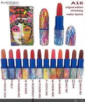 Wholesale 2016 Good quality colors waterproof original edition chrischang matter lipstick makeup lip stick factory direct