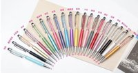 apple stationery - new for in Crystal pen Diamond ballpoint pen Stationery ballpen crystal stylus pen touch pen pen