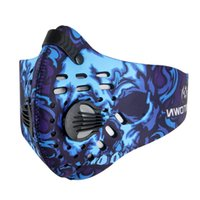 activated carbon cloth - New Anti Pollution Ciclismo Cycling Mask Half Face Bike Bicycle With Filter Neoprene Activated Carbon Mesh Cloth Multi Color