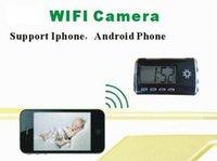 La détection de mouvement caméra HD 1080P sans fil WIFI Horloge numérique mini caméra Caméscopes Accueil sécurité CCTV Mini DV enregistreur vidéo