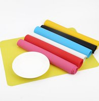 Wholesale Silicone Rectangle Bowl Cup Mat at Table Tableware Pad Placemat Tables Coasters non slip mat Newest cm color KKA922