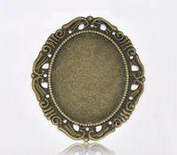 antique filigree metal frame - Antique Bronze Cameo Frame Settings Filigree Connectors Metal Crafts Gift Decoration DIY x4 cm M00659