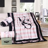 bedspread fabrics - 130 CM Bedding Outlet Pink VS Secret Blanket Fleece Bedding Throws on Sofa Bed Car Portable Plaids Bedspread Hot Limited pc