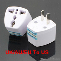 ac electrical connectors - High Quality Travel Charger AC Electrical Power UK AU EU To US Plug Adapter Converter USA Universal Power Plug Adaptador Connector
