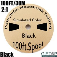 Wholesale 100 Ft Meter Black Polyolefin Halogen Free Heat Shrink Tubing Insulation Tube Electronic Accessories For Car Boat Home