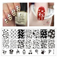 Wholesale Cute Candy Nail Art Stamp Template Image Plate Nail Stamping Plate Stamp Tools BORN PRETTY BP L023 x cm