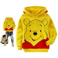 bear hooded sweatshirt - 2016 New Kids Sanded fabric Bear Sweatshirt Toddler Boy hoodie Autumn spring Children Shirt Long Sleeve Clothes baby boy girl Clothing