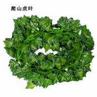 Wholesale 2017 Hot Sale Artificial Ivy Leaf Garland Plants Vine Fake Foliag Vine flower Rattan Decorations Bouquet Garland Home Ornament