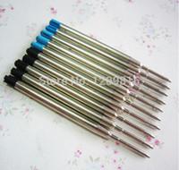 Wholesale Förderung stücke hohe qualität schwarz blau tinte kugelschreiber minen stift zubehör Kostenloser Versand