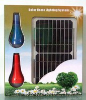 Wholesale DHL Solar power system outdoor camping lights and solar phone charger w solar panel and Mah lithium battery each