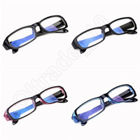 Wholesale 50pcs LJJG177 Factory Price Radiation Eye Strain Protection Glasses Computer PC TV Vision Radiation Professional Goggles Glass UV400 Glass