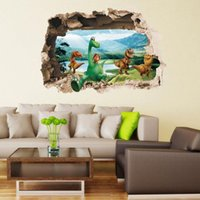 Wholesale Jurassic World Park Dinosaurs Wall Stickers for Kids Rooms Boy Decoration Dinossauro Wall Decals Anime Poster Wallpaper Kids Romm