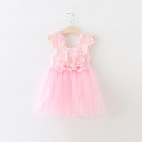 Cheap Kid Summer Dress For Girl Lace Flower Cute Little Princess Dresses Children Girls' Clothing For Birthday Party Tulle Tutu Dress