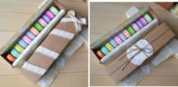 Wholesale 24 Kraft Paper Macaron Gift Box Cookie Favor Bakery Cake Cupcake Chocolate Box Christmas Wedding Packaging Boxes